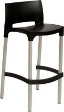 Thermo Plastic Gio Stacking Stool - Black